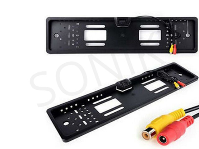 European Car Licence Plate Rear View Camera