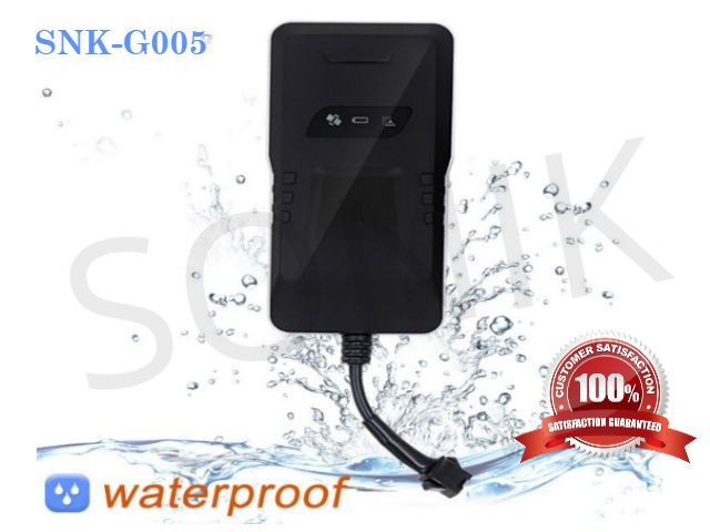 Car GPS Tracker, SNK-G005 Waterproof Supports Disable Fuel Power Cut Alarm, Over speed Alarm
