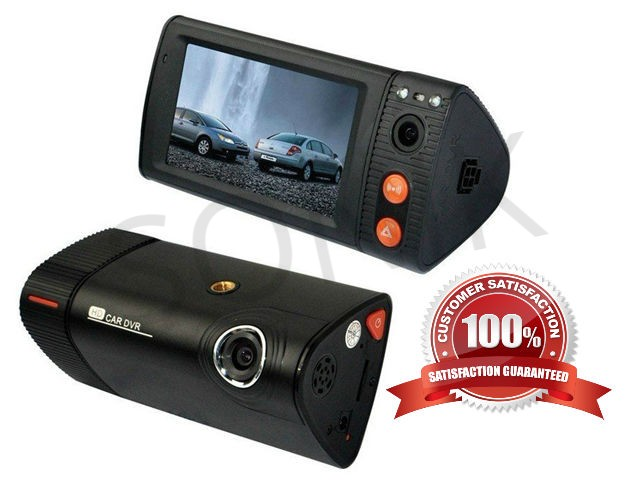 Dual Lens Touchscreen Car DVR with GPS - DVR- SNK-P7-S1