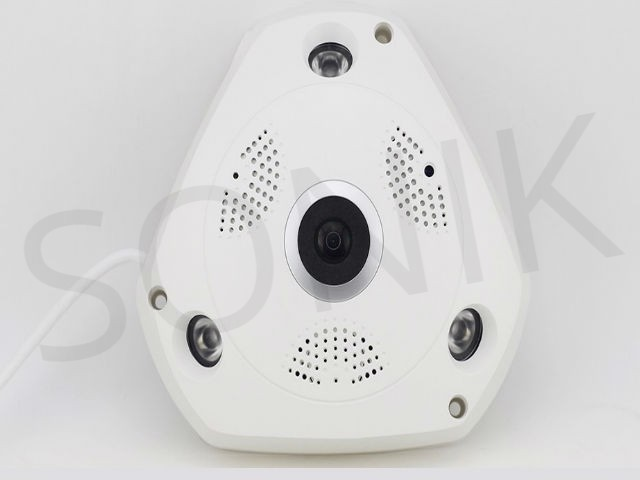 3D VR 360 Degree View Camera With Wifi and SD Card Support